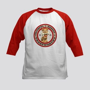 """""""Year of the Dog [Red & Brown Kids Baseball Jersey"""